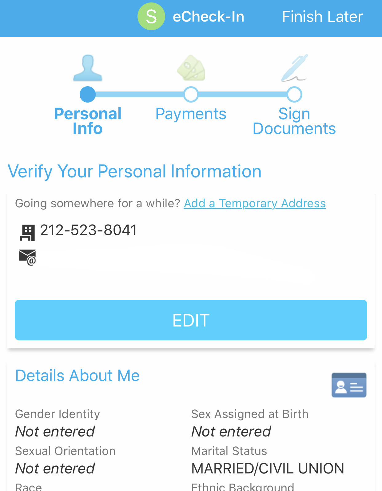 Updating Personal Information On MyChart