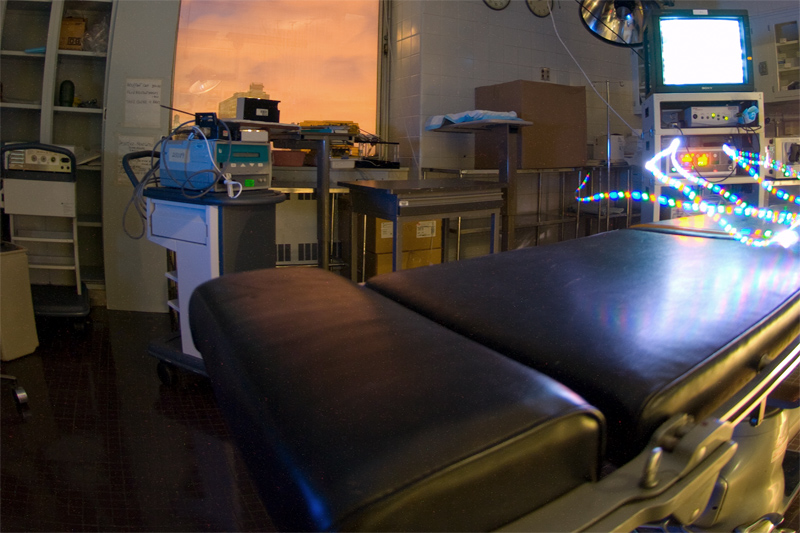 The operating facilities on the surgical research floor have full laparoscopic and endoscopic capabilities. A wide variety of experiments have evaluated everything from Natural Orifice Endoscopic Surgery to different operative approaches for hernia repair. Training modules are available for resident teaching.
