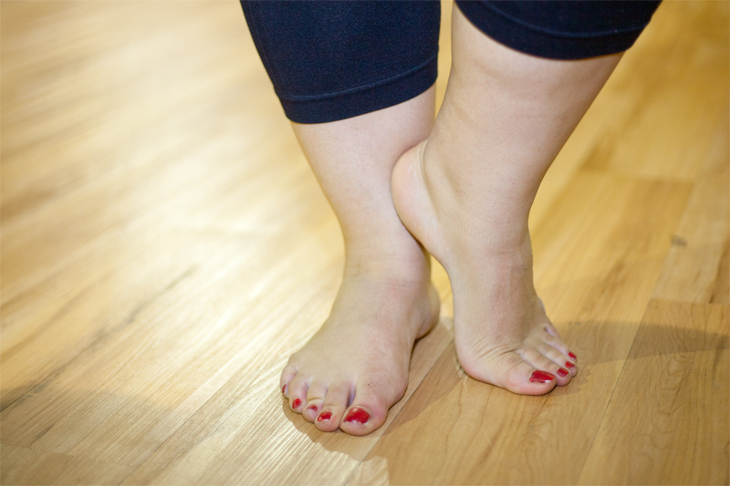 You need to take good care of your feet and ankles now that you are beginning to exercise. If you have a minor sprain in your ankles then move away from exercise that requires pressure on your ankles and feet. Consider riding a bicycle or swimming for your cardio. Yoga is very good because it promotes flexibility and balance.