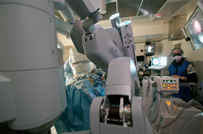 Minimally invasive surgery now has a technological armamentarium that can help facilitate your operation and speed your recovery. Some operations require a combination of robotics and traditional laparoscopy and thoracoscopy. Other imaging modalities that include endoscopy to visualize inside your intestines as well as fluoroscopy that can visualize your organs with an x-ray are sometimes used during a complex operation.