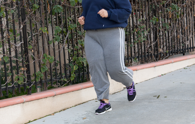 Obese jogger