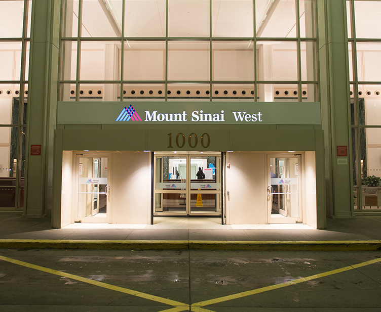 Entrance to Mt. Sinai West Hospital